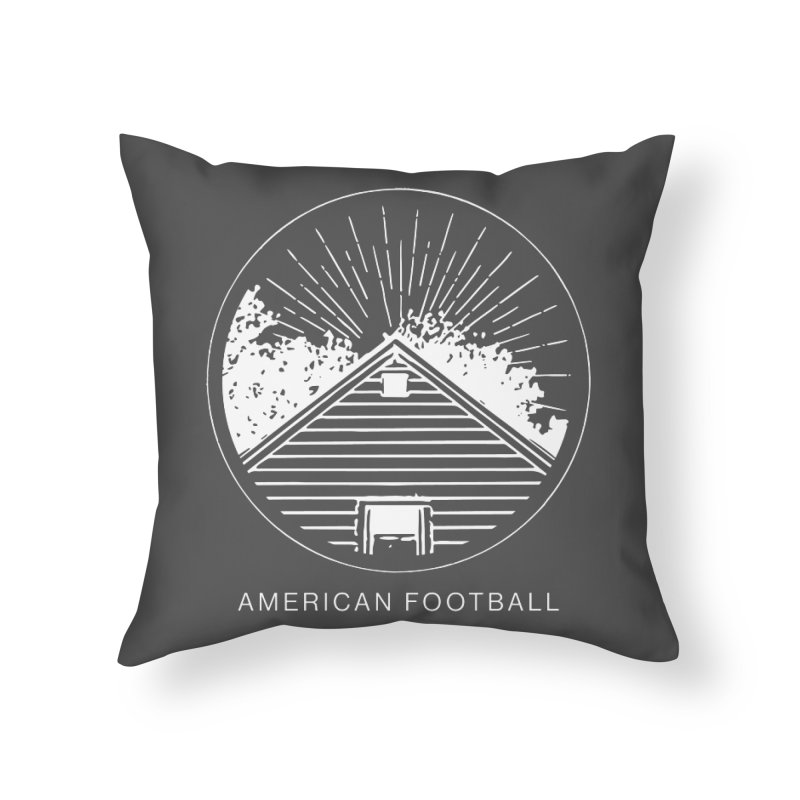 American Football - Home is Where the Haunt is Home Throw Pillow by Polyvinyl Threadless Shop