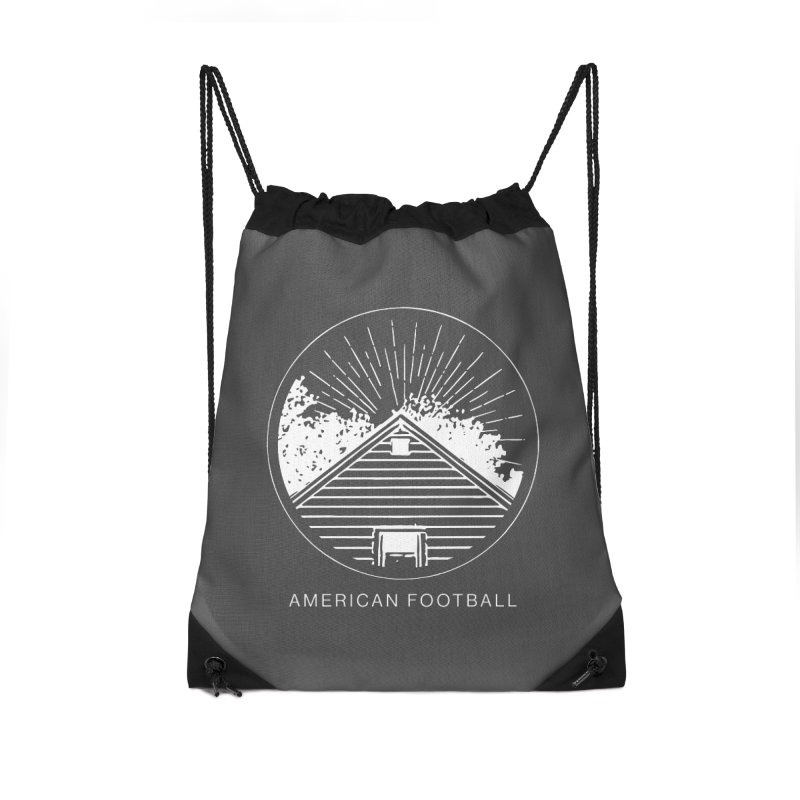 American Football - Home is Where the Haunt is Accessories Drawstring Bag Bag by Polyvinyl Threadless Shop