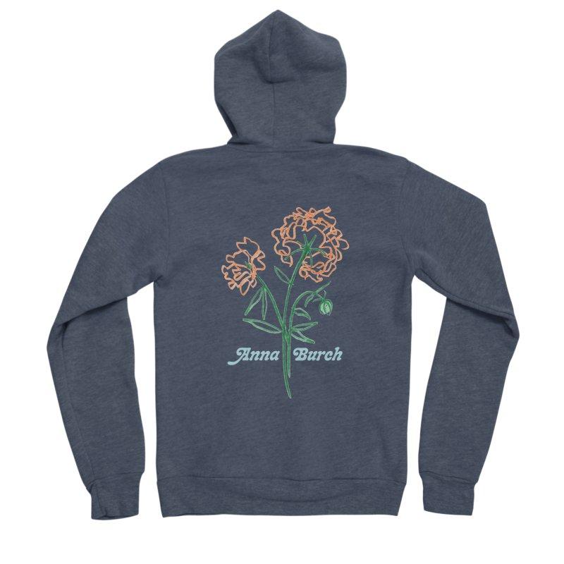Anna Burch - Wall Flowers Men's Sponge Fleece Zip-Up Hoody by Polyvinyl Threadless Shop