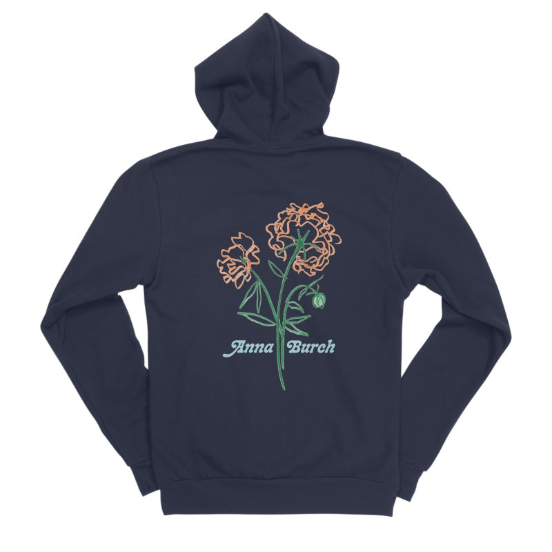 Anna Burch - Wall Flowers Men's Sponge Fleece Zip-Up Hoody by Polyvinyl Threadless Shop