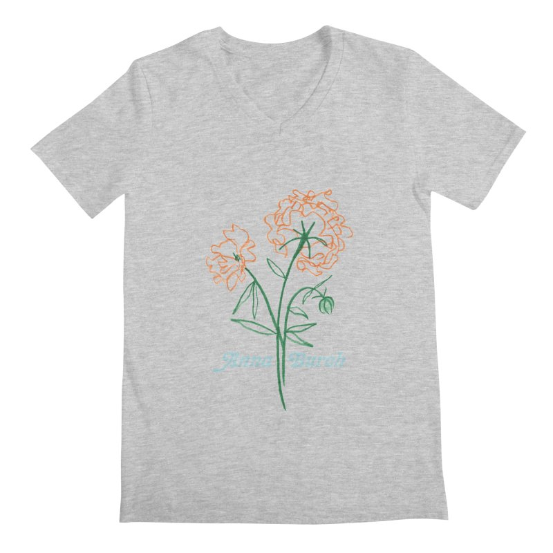 Anna Burch - Wall Flowers Men's Regular V-Neck by Polyvinyl Threadless Shop