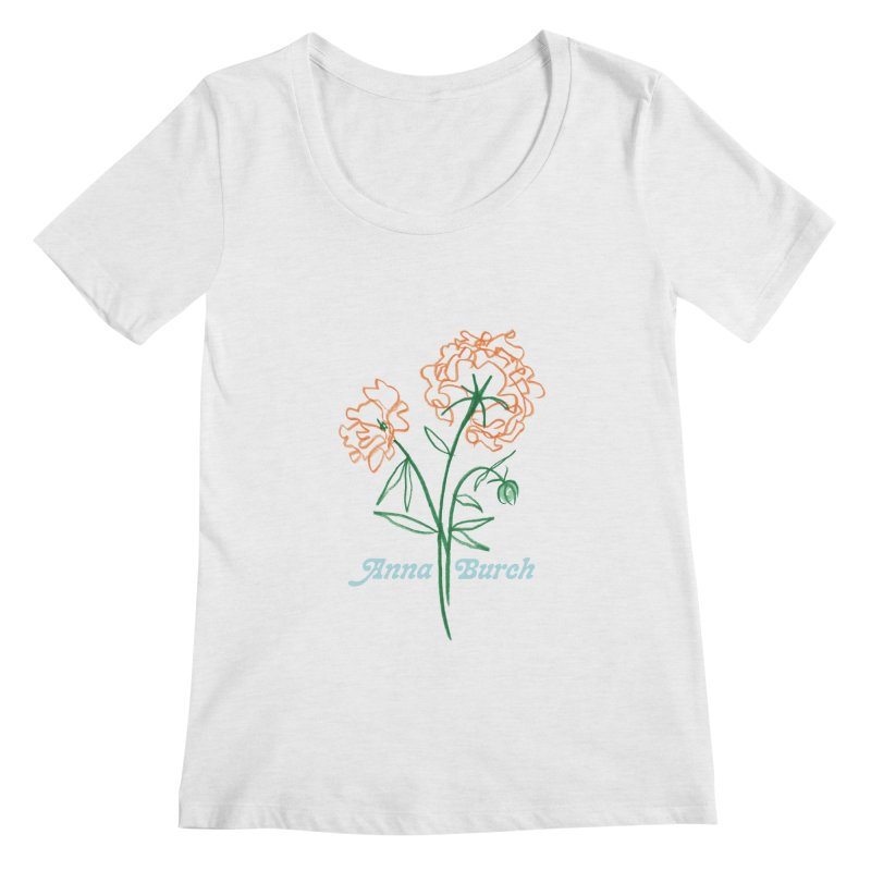 Anna Burch - Wall Flowers Women's Regular Scoop Neck by Polyvinyl Threadless Shop