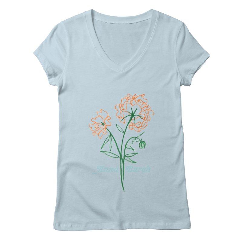 Anna Burch - Wall Flowers Women's Regular V-Neck by Polyvinyl Threadless Shop