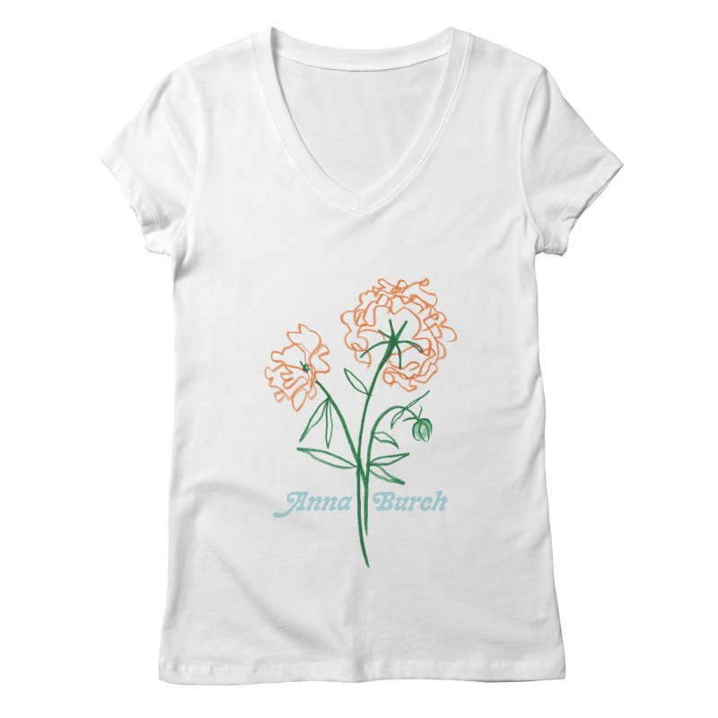 Anna Burch - Wall Flowers Women's Regular V-Neck by Polyvinyl Threadless Shop