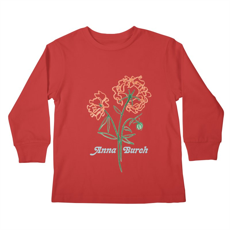 Anna Burch - Wall Flowers Kids Longsleeve T-Shirt by Polyvinyl Threadless Shop