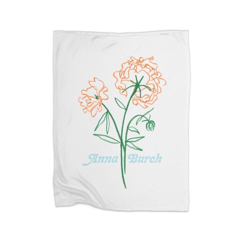 Anna Burch - Wall Flowers Home Fleece Blanket Blanket by Polyvinyl Threadless Shop