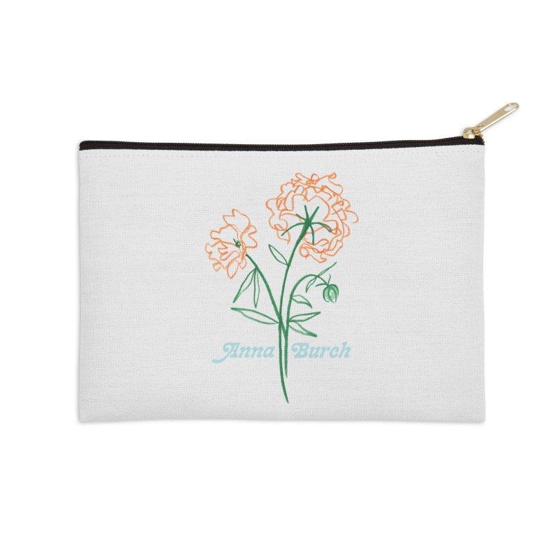 Anna Burch - Wall Flowers Accessories Zip Pouch by Polyvinyl Threadless Shop