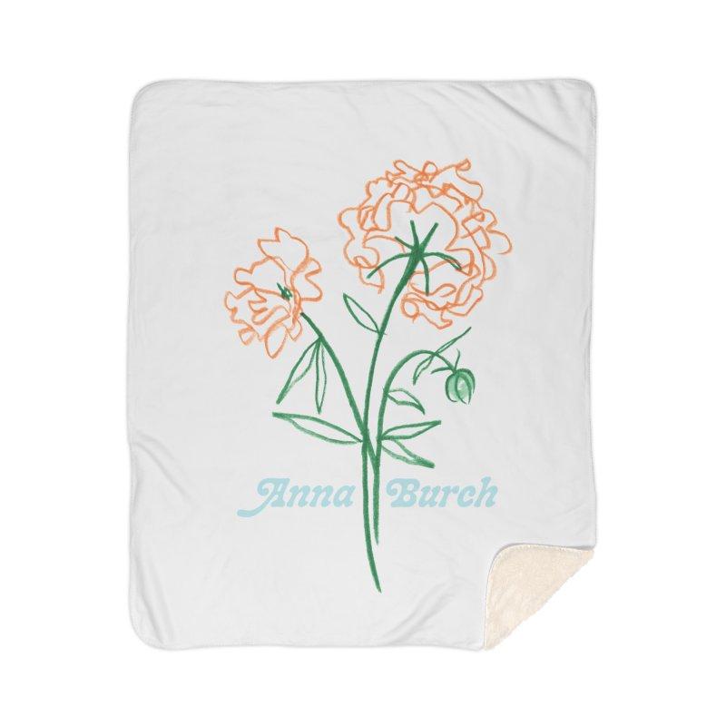 Anna Burch - Wall Flowers Home Sherpa Blanket Blanket by Polyvinyl Threadless Shop