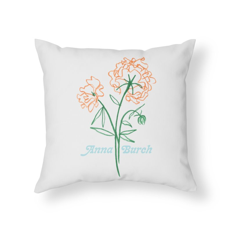 Anna Burch - Wall Flowers Home Throw Pillow by Polyvinyl Threadless Shop