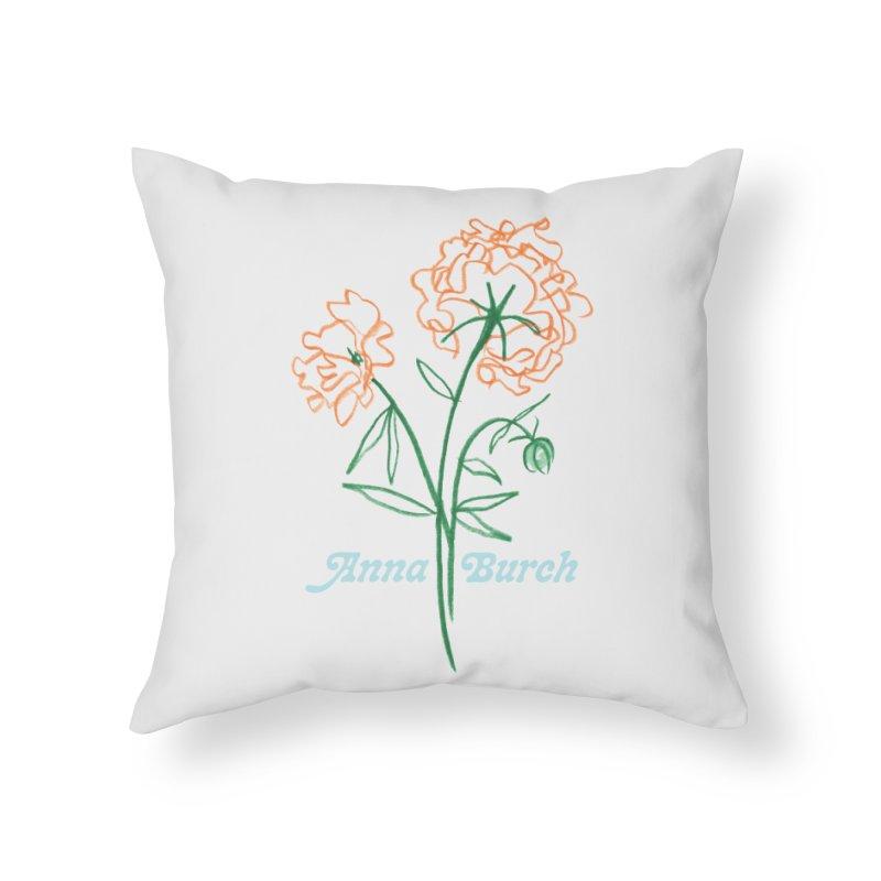 Anna Burch - Wall Flowers Home Throw Pillow by Polyvinyl Threadless Shop