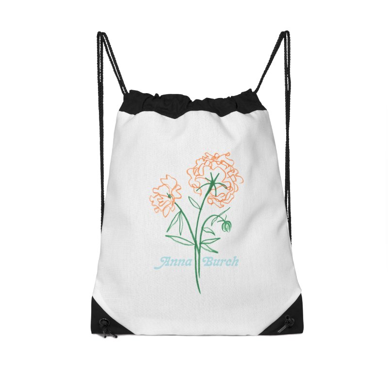 Anna Burch - Wall Flowers Accessories Drawstring Bag Bag by Polyvinyl Threadless Shop
