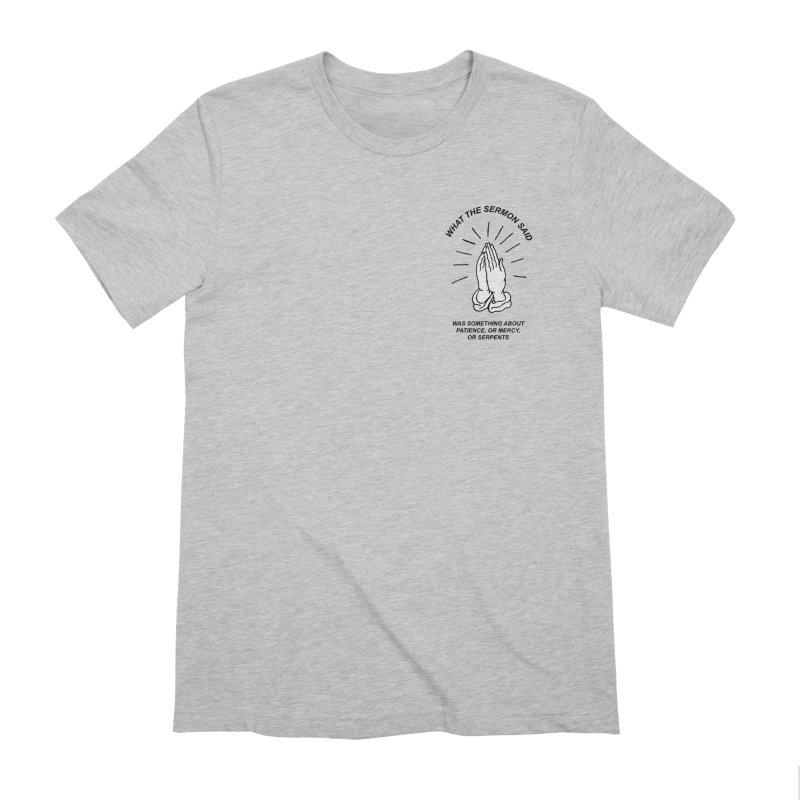 Fred Thomas - What the Sermon Said Men's Extra Soft T-Shirt by Polyvinyl Threadless Shop