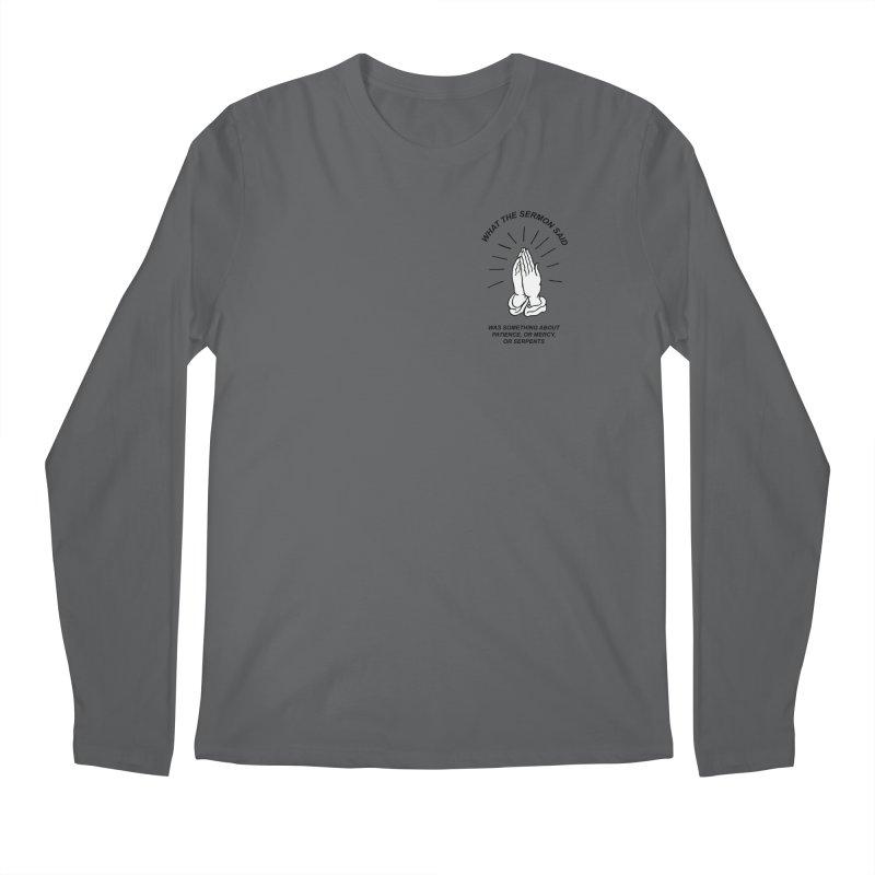 Fred Thomas - What the Sermon Said Men's Regular Longsleeve T-Shirt by Polyvinyl Threadless Shop