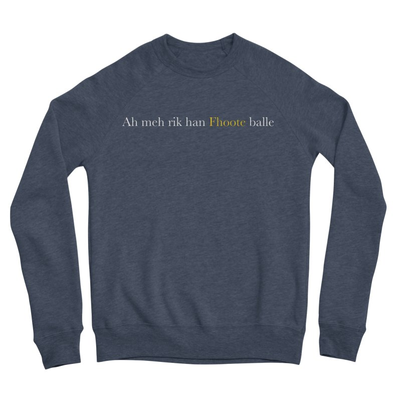 AMERICAN FOOTBALL - SYLLABLES Women's Sponge Fleece Sweatshirt by Polyvinyl Threadless Shop