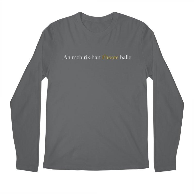 AMERICAN FOOTBALL - SYLLABLES Men's Regular Longsleeve T-Shirt by Polyvinyl Threadless Shop