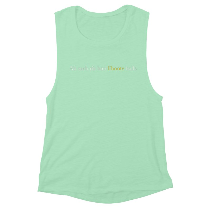 AMERICAN FOOTBALL - SYLLABLES Women's Muscle Tank by Polyvinyl Threadless Shop