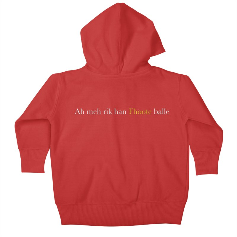 AMERICAN FOOTBALL - SYLLABLES Kids Baby Zip-Up Hoody by Polyvinyl Threadless Shop