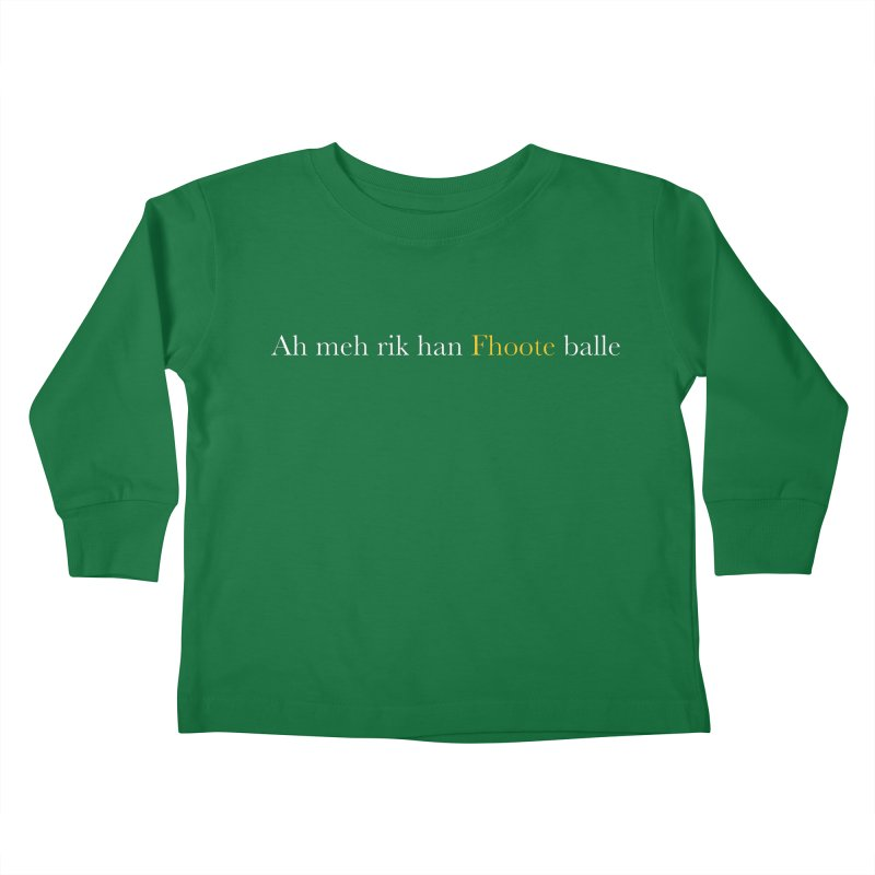 AMERICAN FOOTBALL - SYLLABLES Kids Toddler Longsleeve T-Shirt by Polyvinyl Threadless Shop