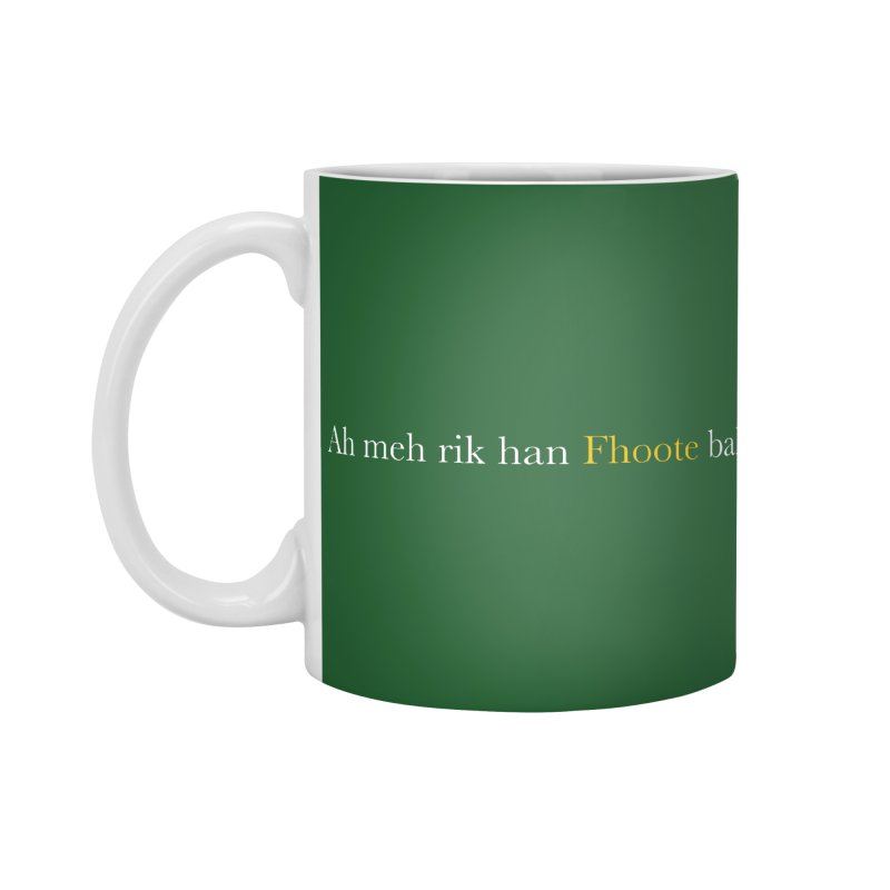 AMERICAN FOOTBALL - SYLLABLES Accessories Mug by Polyvinyl Threadless Shop