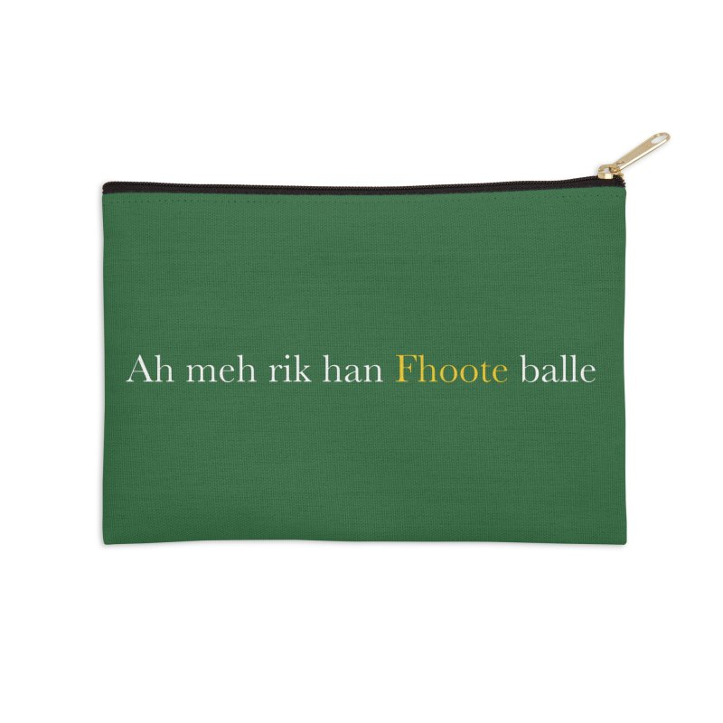AMERICAN FOOTBALL - SYLLABLES Accessories Zip Pouch by Polyvinyl Threadless Shop