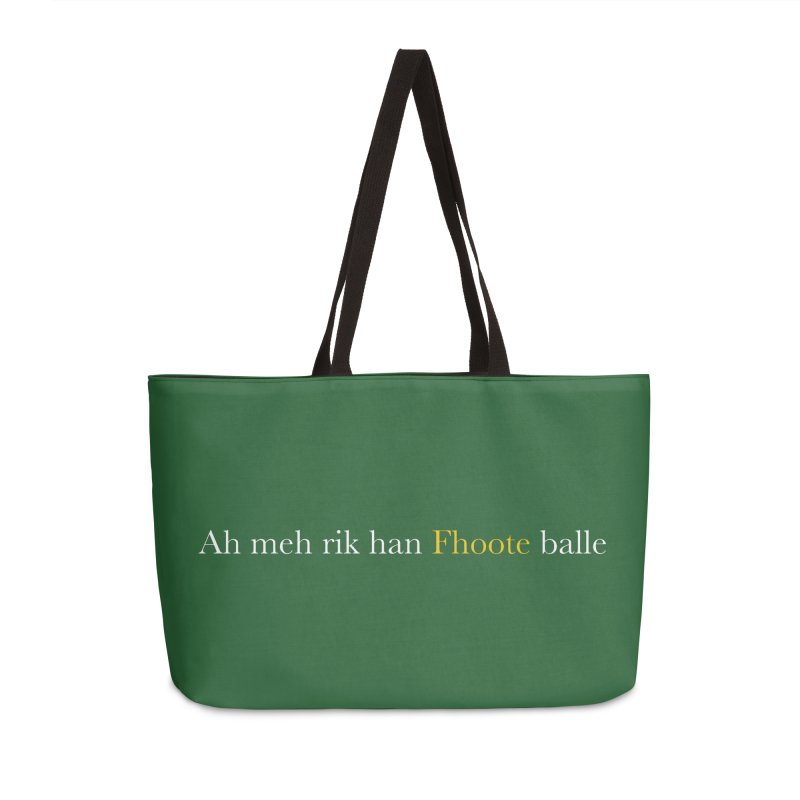 AMERICAN FOOTBALL - SYLLABLES Accessories Weekender Bag Bag by Polyvinyl Threadless Shop