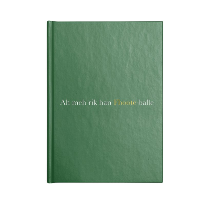 AMERICAN FOOTBALL - SYLLABLES Accessories Lined Journal Notebook by Polyvinyl Threadless Shop