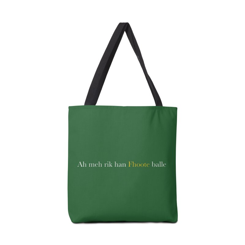 AMERICAN FOOTBALL - SYLLABLES Accessories Tote Bag Bag by Polyvinyl Threadless Shop