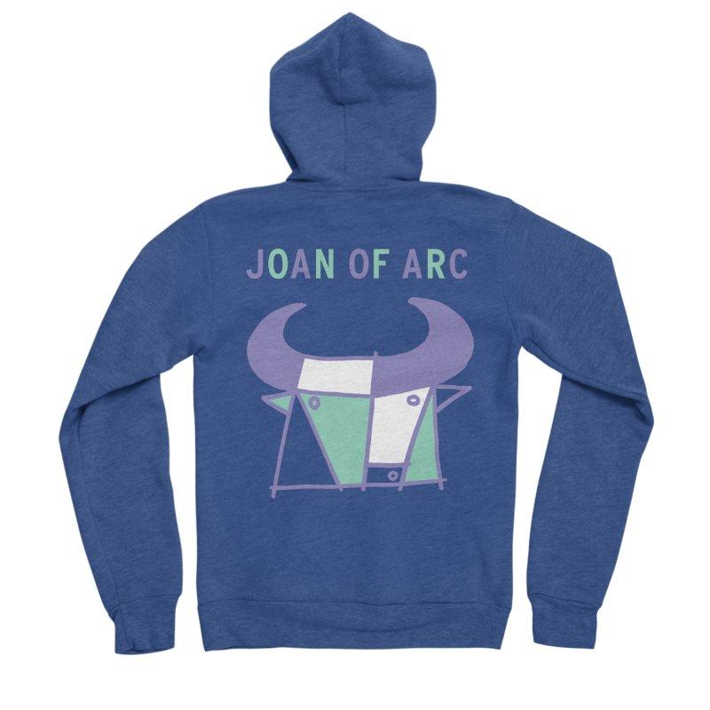 JOAN OF ARC - BULL Men's Sponge Fleece Zip-Up Hoody by Polyvinyl Threadless Shop
