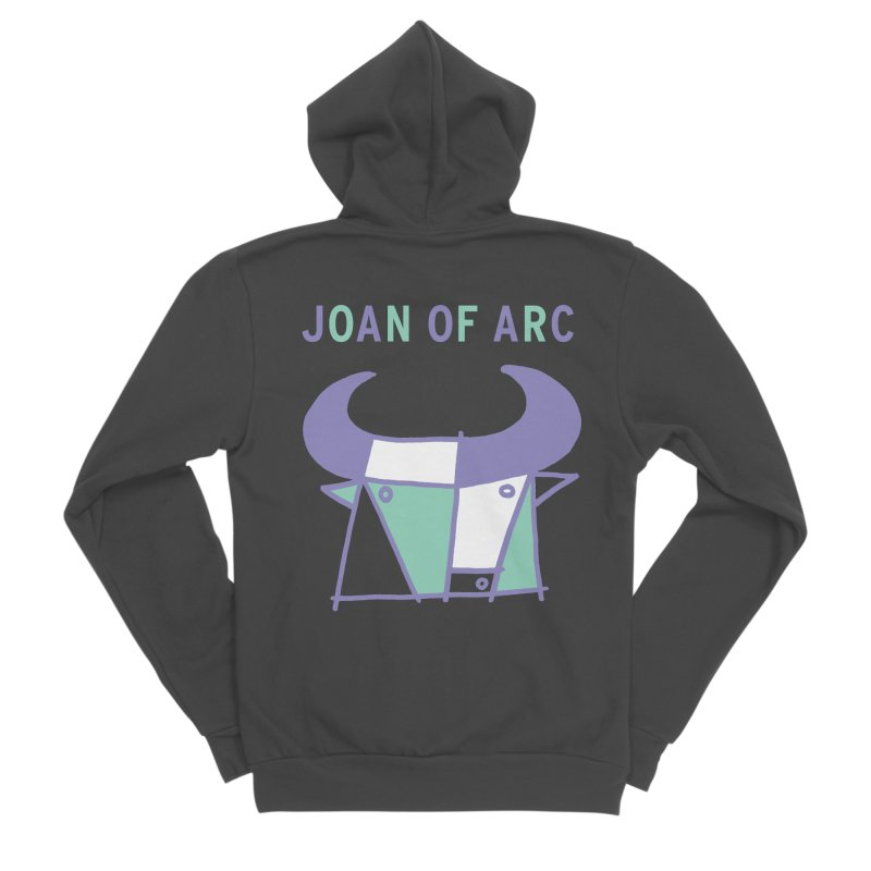 JOAN OF ARC - BULL Men's Sponge Fleece Zip-Up Hoody by Polyvinyl Threadless Shop