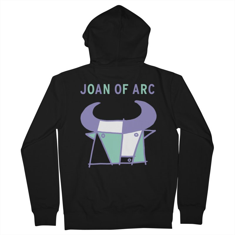 JOAN OF ARC - BULL Women's French Terry Zip-Up Hoody by Polyvinyl Threadless Shop