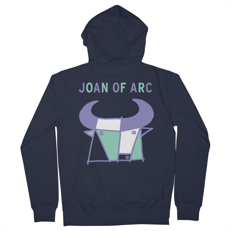 JOAN OF ARC - BULL Men's French Terry Zip-Up Hoody by Polyvinyl Threadless Shop