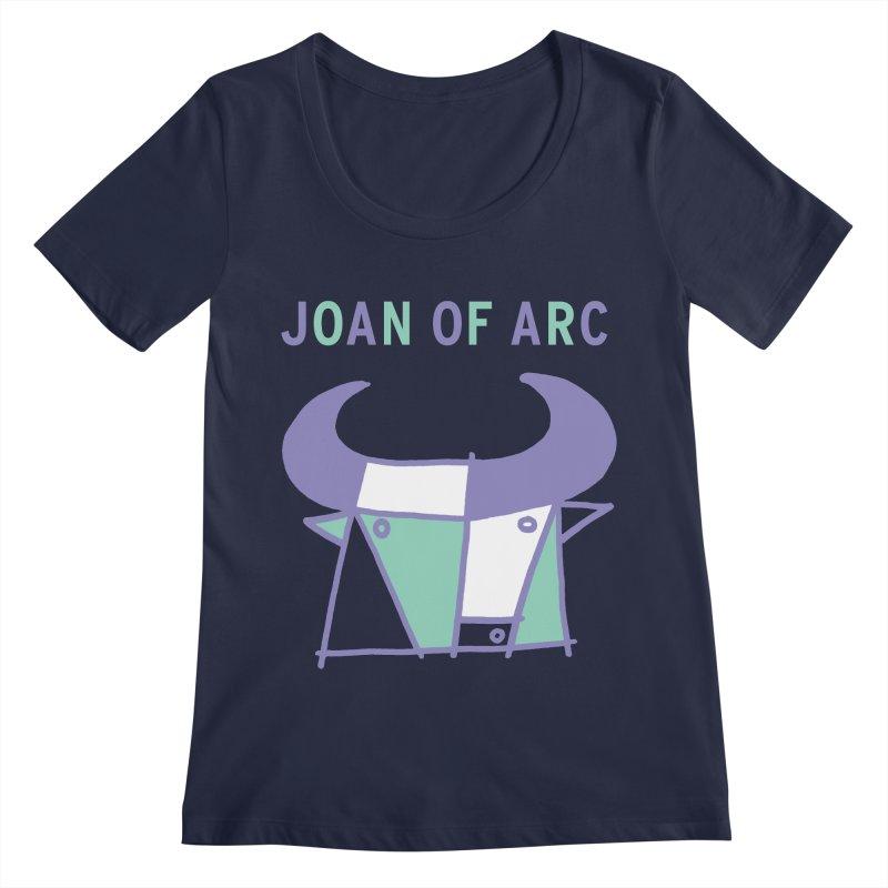 JOAN OF ARC - BULL Women's Regular Scoop Neck by Polyvinyl Threadless Shop
