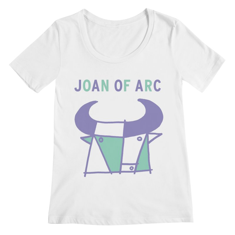 JOAN OF ARC - BULL Women's Regular Scoop Neck by Polyvinyl Threadless Shop