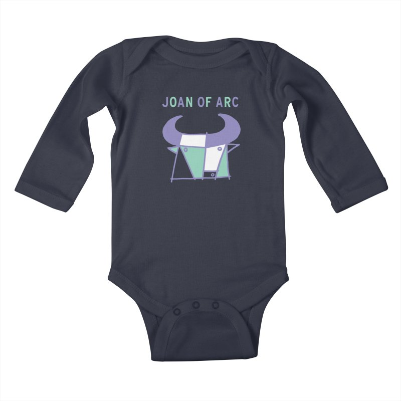 JOAN OF ARC - BULL Kids Baby Longsleeve Bodysuit by Polyvinyl Threadless Shop