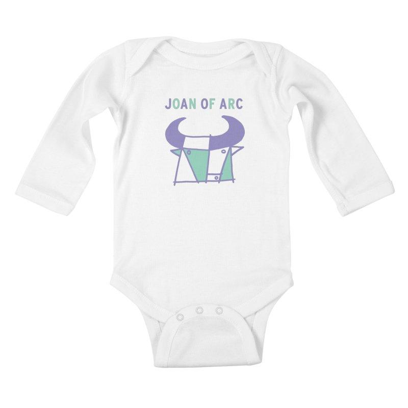 JOAN OF ARC - BULL Kids Baby Longsleeve Bodysuit by Polyvinyl Threadless Shop