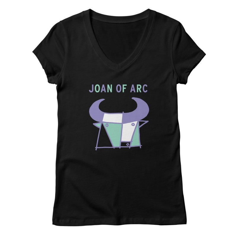 JOAN OF ARC - BULL Women's V-Neck by Polyvinyl Threadless Shop