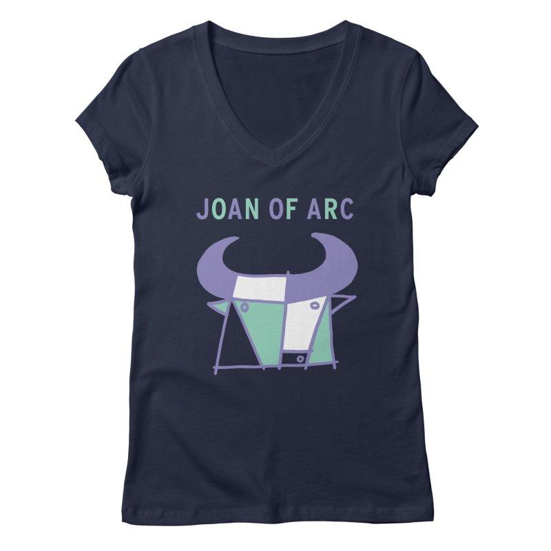JOAN OF ARC - BULL Women's Regular V-Neck by Polyvinyl Threadless Shop