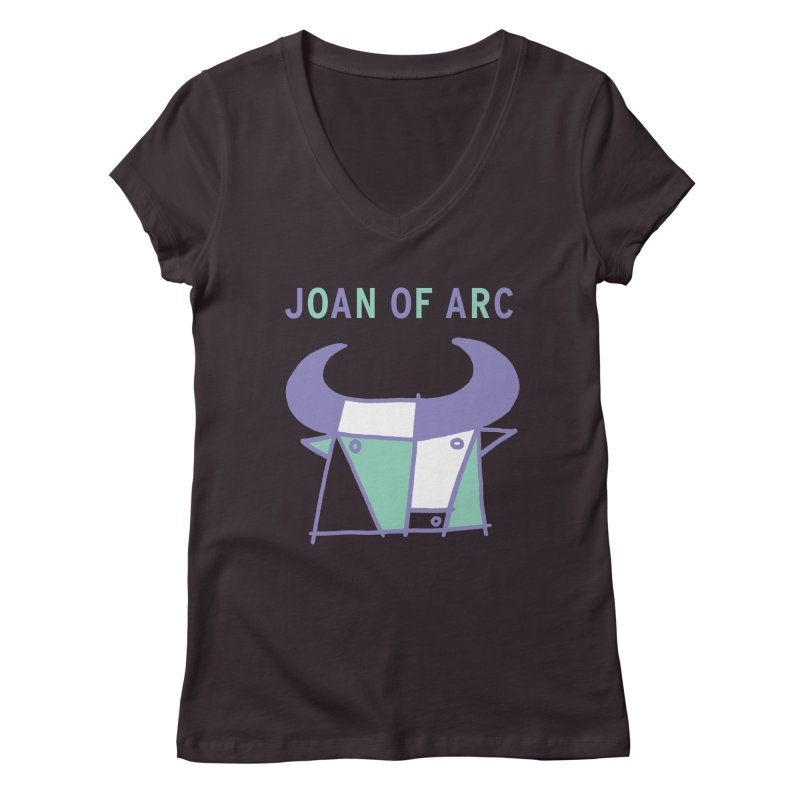 JOAN OF ARC - BULL Women's Regular V-Neck by Polyvinyl Threadless Shop