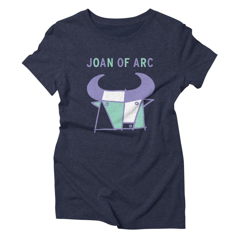 JOAN OF ARC - BULL Women's Triblend T-Shirt by Polyvinyl Threadless Shop