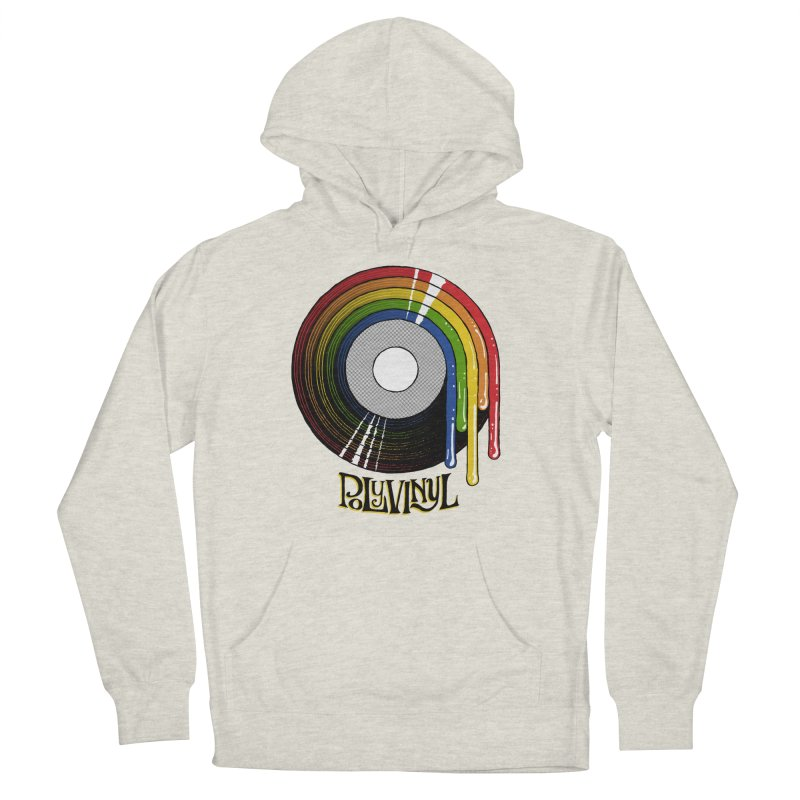 Polyvinyl - Rainbow Vinyl Men's French Terry Pullover Hoody by Polyvinyl Threadless Shop