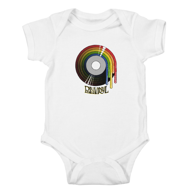 Polyvinyl - Rainbow Vinyl Kids Baby Bodysuit by Polyvinyl Threadless Shop