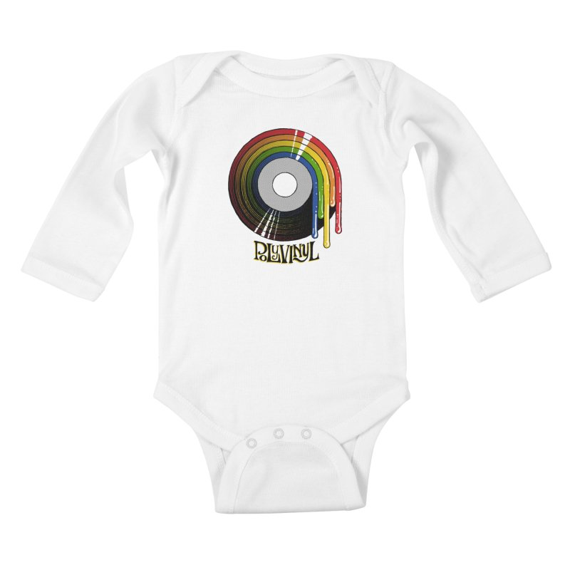 Polyvinyl - Rainbow Vinyl Kids Baby Longsleeve Bodysuit by Polyvinyl Threadless Shop
