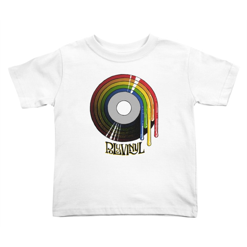 Polyvinyl - Rainbow Vinyl Kids Toddler T-Shirt by Polyvinyl Threadless Shop