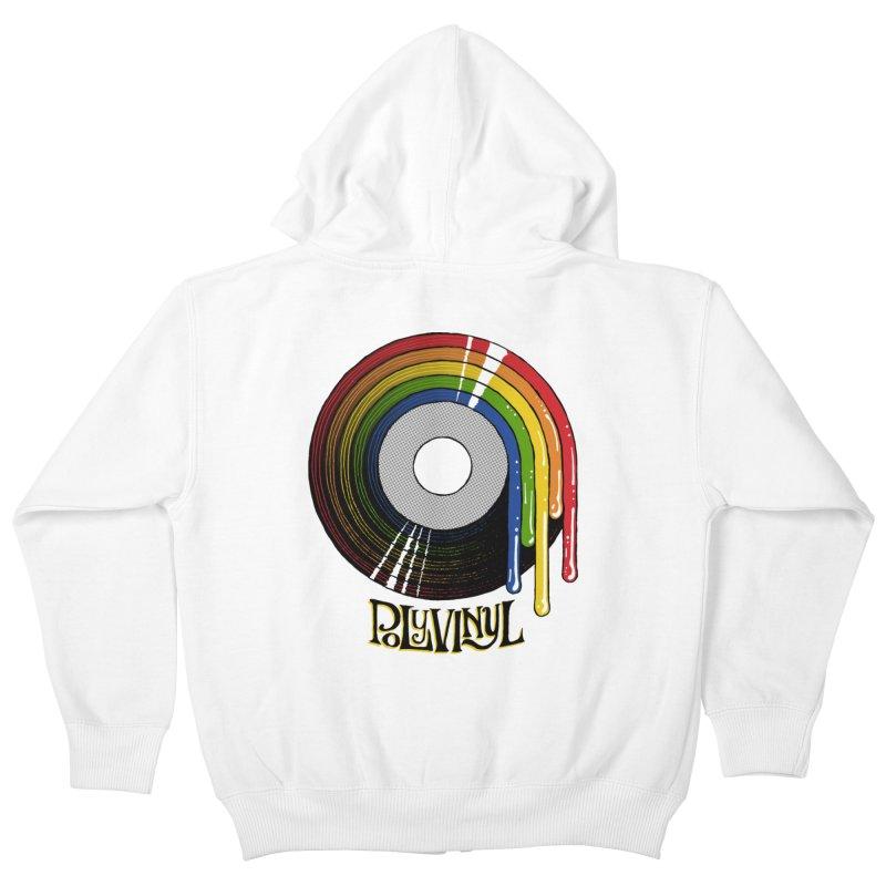 Polyvinyl - Rainbow Vinyl Kids Zip-Up Hoody by Polyvinyl Threadless Shop