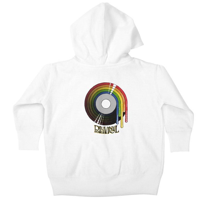 Polyvinyl - Rainbow Vinyl Kids Baby Zip-Up Hoody by Polyvinyl Threadless Shop