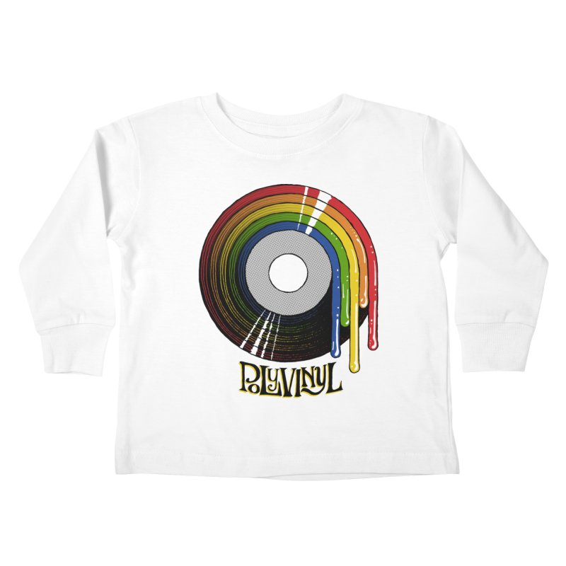 Polyvinyl - Rainbow Vinyl Kids Toddler Longsleeve T-Shirt by Polyvinyl Threadless Shop