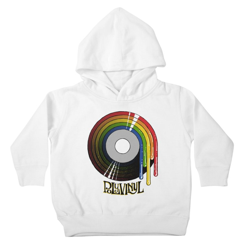 Polyvinyl - Rainbow Vinyl Kids Toddler Pullover Hoody by Polyvinyl Threadless Shop