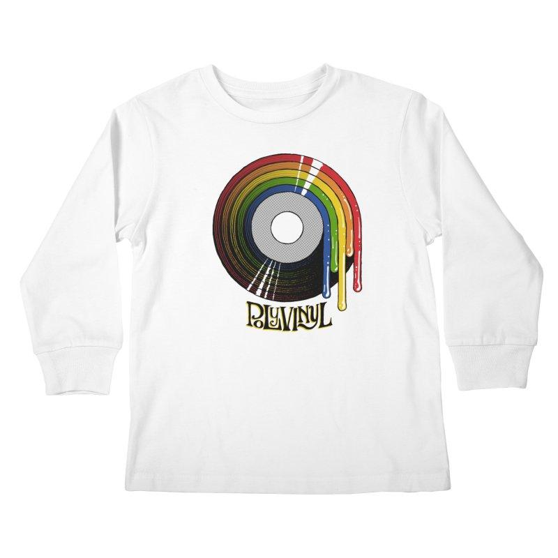Polyvinyl - Rainbow Vinyl Kids Longsleeve T-Shirt by Polyvinyl Threadless Shop