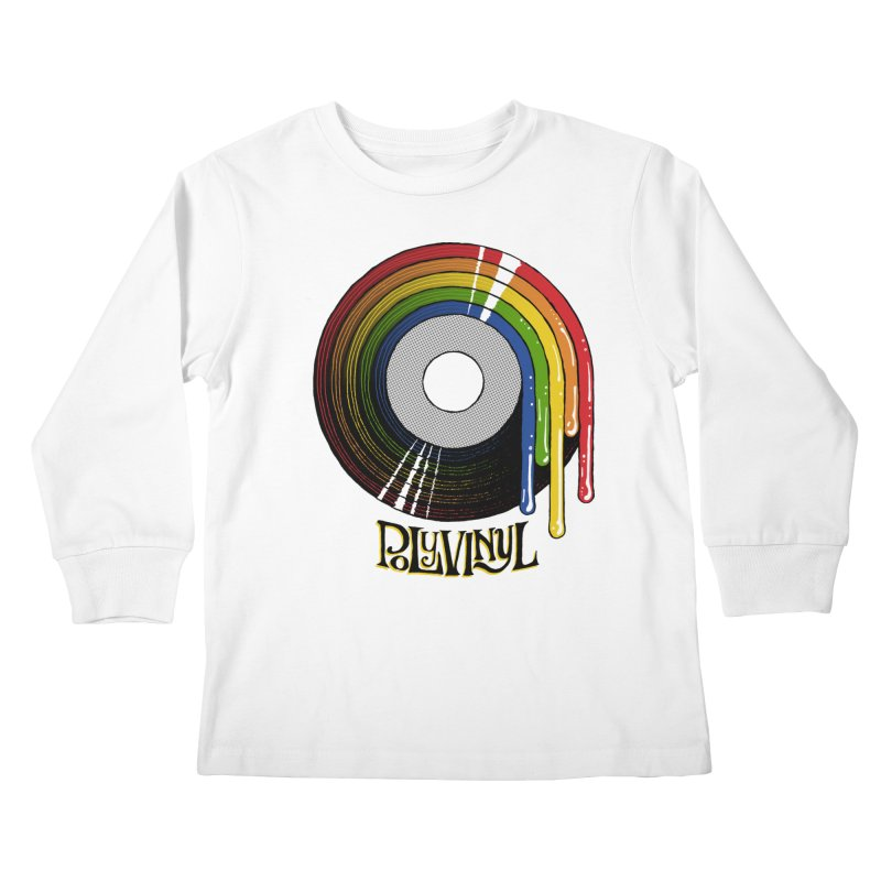 Polyvinyl - Rainbow Vinyl Kids Longsleeve T-Shirt by Polyvinyl Threadless Shop