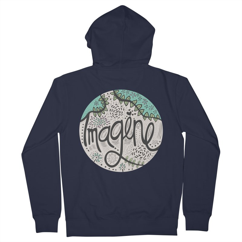Imagine Nature Men's Zip-Up Hoody by pomgraphicdesign's Shop